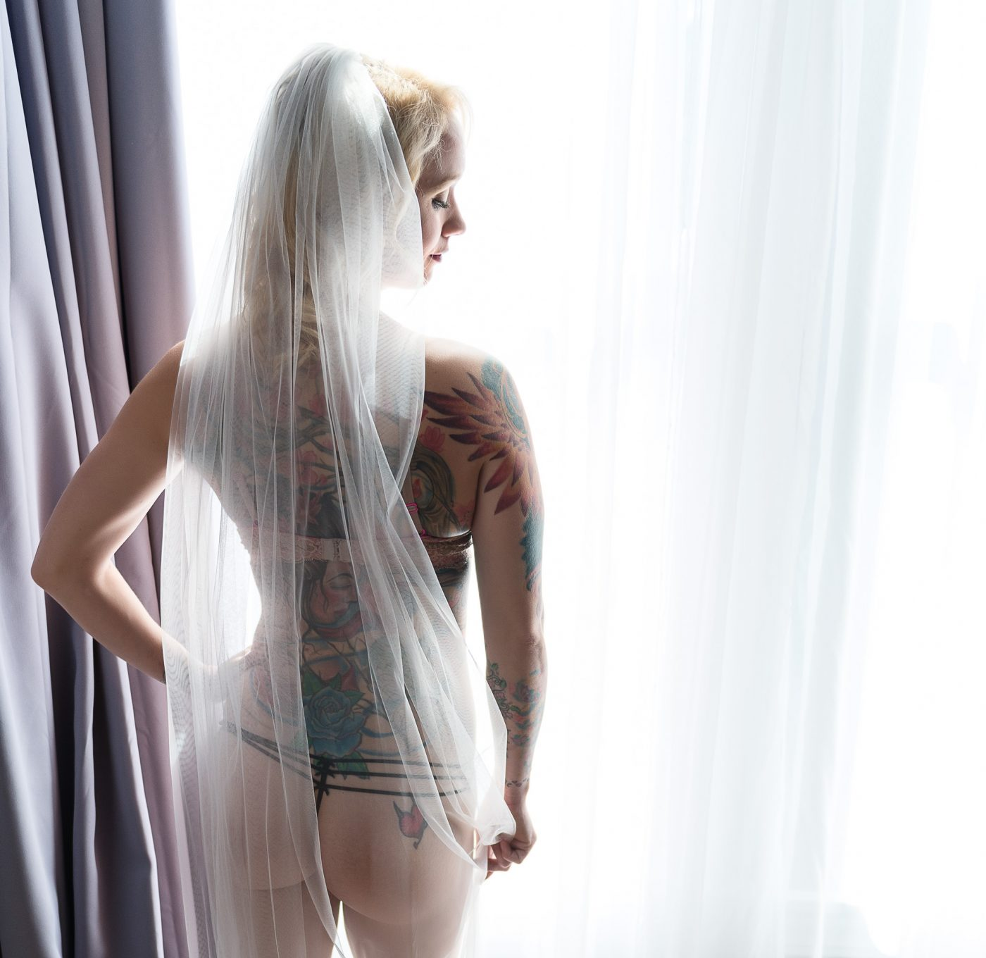 Houston Heights Boudoir with Zina Sexy Tattoo Images