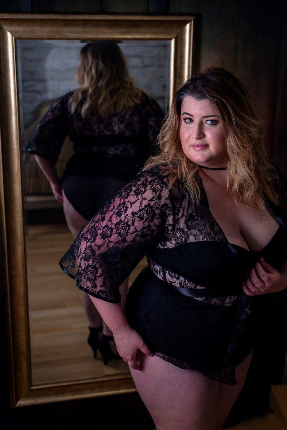 Plus Size Boudoir for Curvy Women or Full Figured Women at Houston Boudoir Studio Heights Boudoir