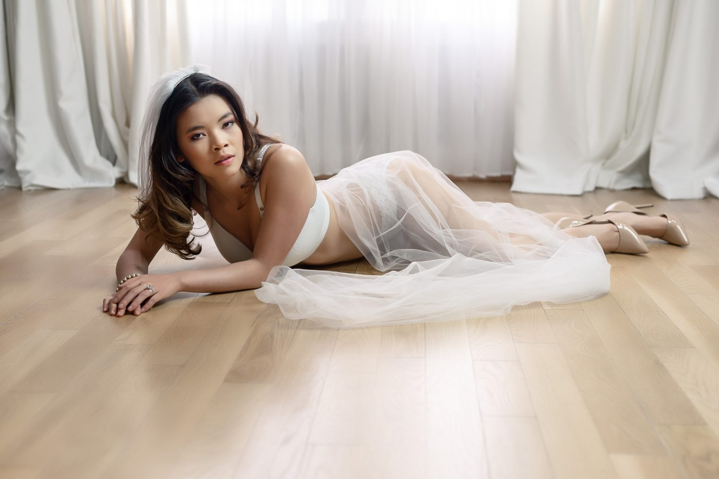 Bridal Boudoir Photos at Houston Heights Boudoir Photography Studio