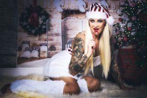 Give a Sexy Gift at Christmas! Sexy Christmas Photos at Houston Boudoir Studio Heights Boudoir