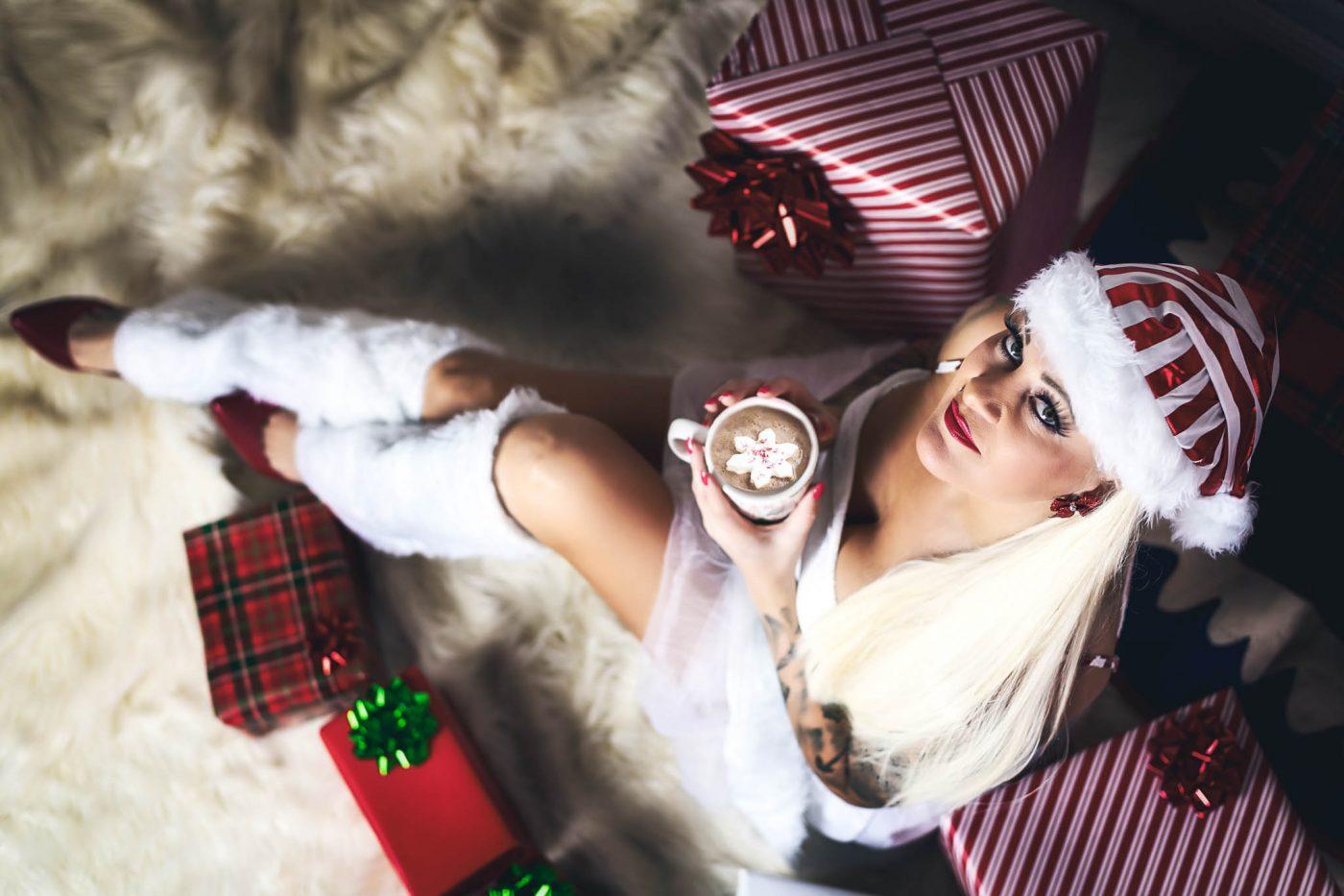 Sexy Christmas Photos at Houston Boudoir Studio Heights Boudoir