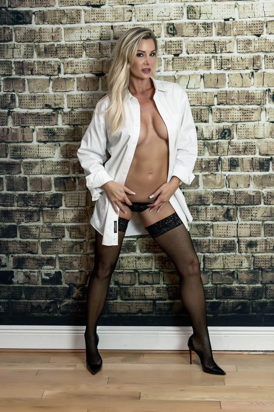 His white dress shirt is smoking hot at a Houston boudoir session at Heights Boudoir favorite lingerie idea