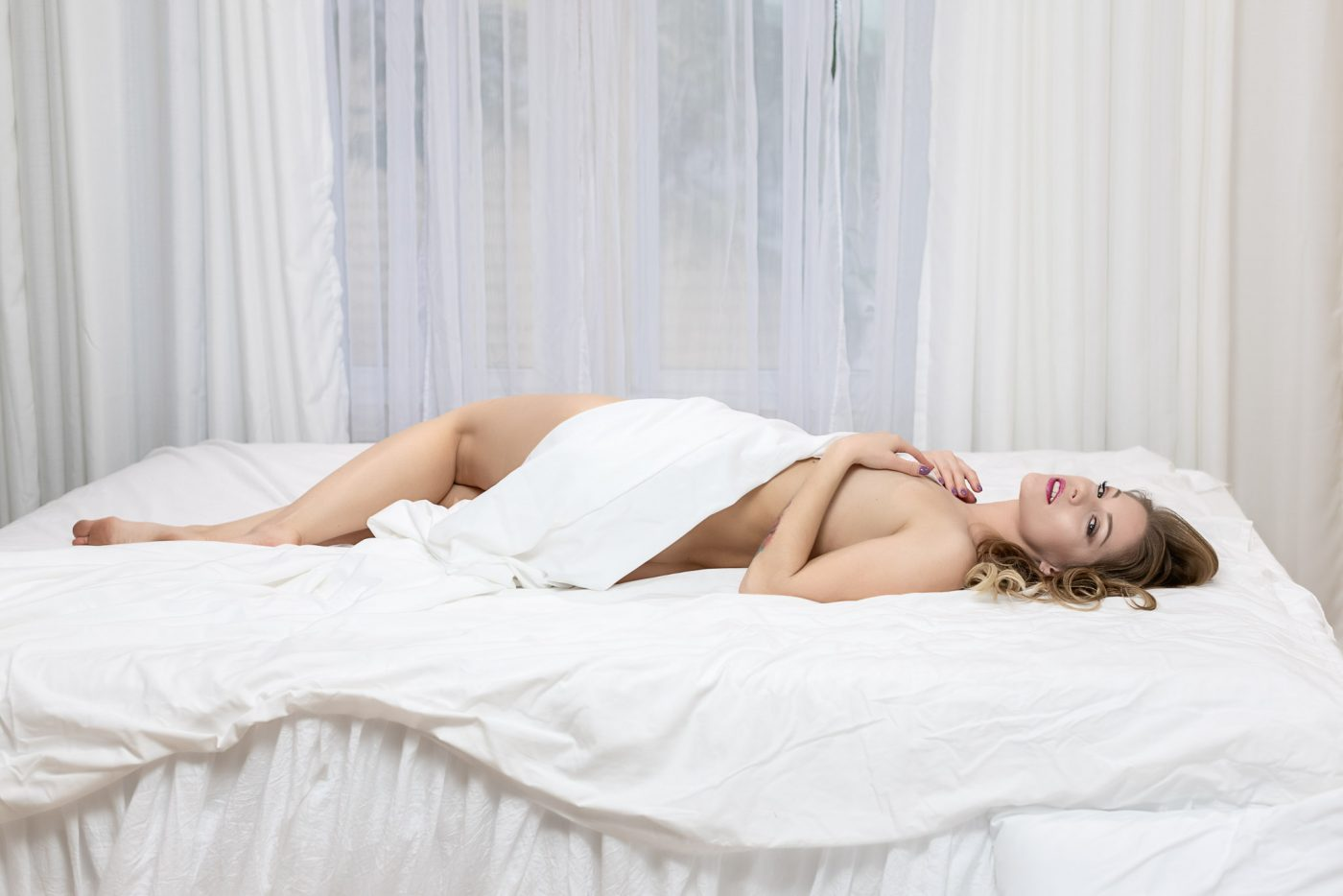 Implied Nudity at Houston boudoir studio Heights Boudoir